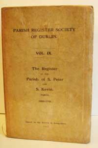 photo of Parish Register Society Of Dublin, The Register of the Parish of Saint Peter and Saint Kevin, Dublin, 1669-1761, 1911