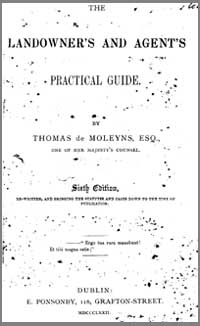 photo of Thomas de Moleyns, Esq. The Landowner's and Agent's Practical Guide, 6th Edition, 1872