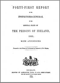 photo of Forty-first Report of the Inspector-General of the General State of the Prisons of Ireland 1862, with Appendices, 1863