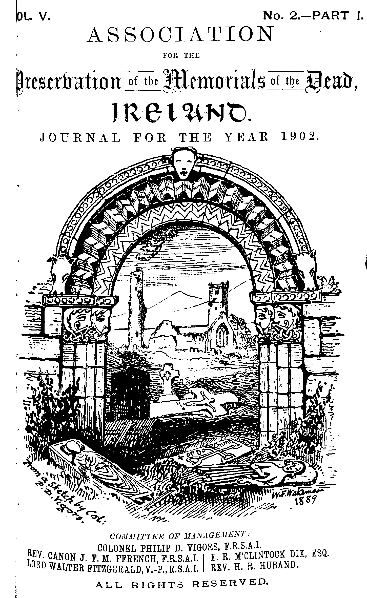 photo of Journal of the Association for the Preservation of the Memorials of the Dead. Volume V, for the years 1901-1903. 1903