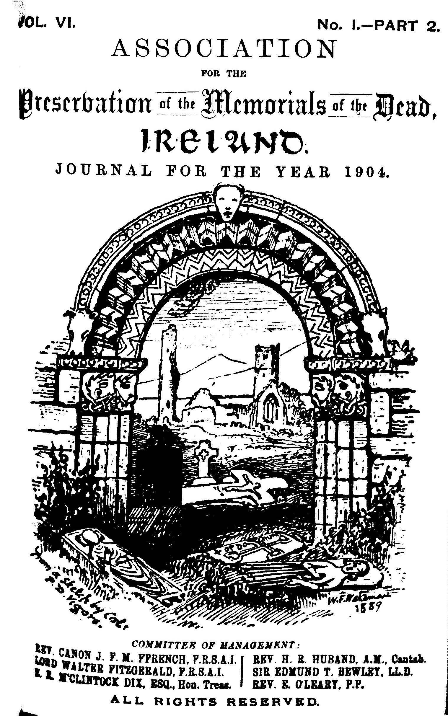 photo of Journal of the Association for the Preservation of the Memorials of the Dead. Volume VI, for the years 1904-1906. 1906