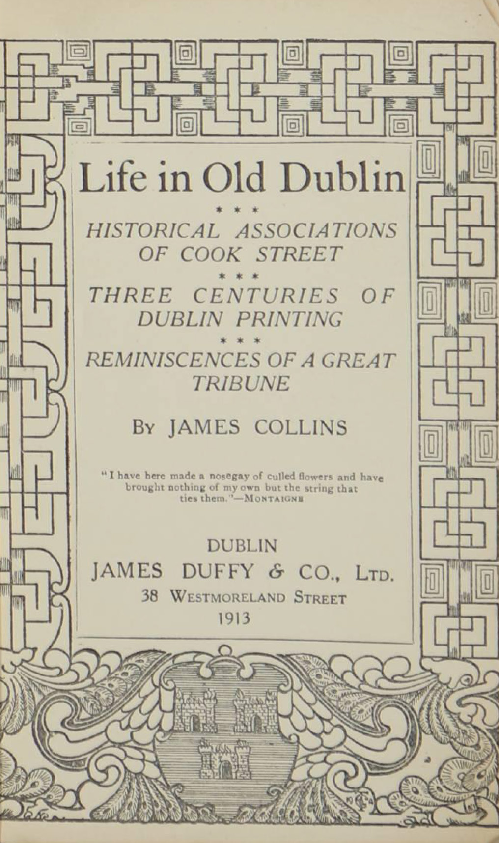 photo of Life in Old Dublin, 1913
