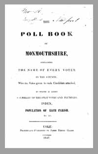 photo of The Poll Book of Monmouthshire, 1847