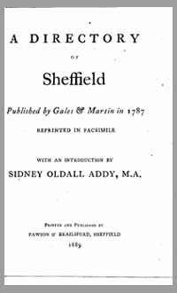 photo of A Directory of Sheffield, 1787