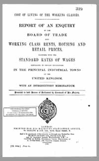 photo of Report of an Enquiry into Working Class Rents, Housing and Retail Prices, 1908