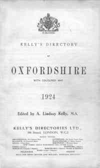 photo of Kelly's Directory of Oxfordshire, 1924