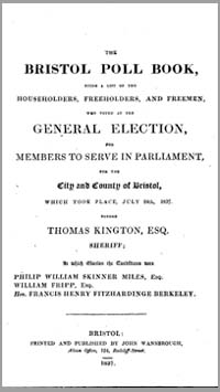 photo of The Bristol Poll Book, 1837