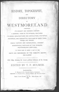 photo of Bulmer's History, Topography and Directory of Westmoreland, 1885