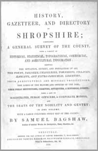 photo of Bagshaw's, History, Gazetteer and Directory of Shropshire, 1851