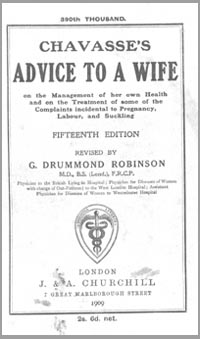 photo of Chavasse's Advice to a Wife, (5th ed), 1909