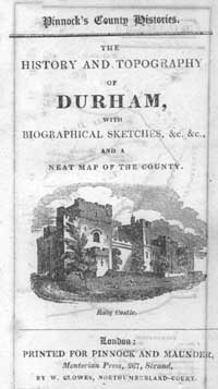 photo of Pinnock's County Histories, The History and Topography of Durham with Biographical Sketches ... and a neat map of the county (undated, c.1820)