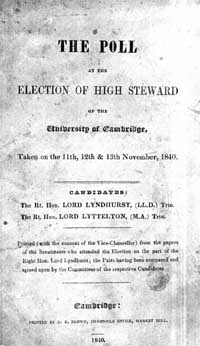 photo of The Poll at the Election of High Steward of the University of Cambridge, 1840 (DOWNLOAD)