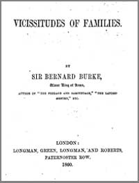 photo of Sir Bernard Burke, Vicissitudes of Families, 1860