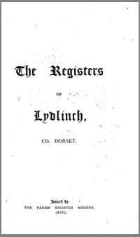 photo of The Parish Register Society, The Registers of Lydlinch, Co. Dorset, 1559-1812 (1899)