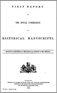 photo of The First and Second Reports of The Royal Commission on Historical Manuscripts, 1870 & 1871