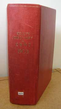 photo of Kelly's Directory of Kent, 1903