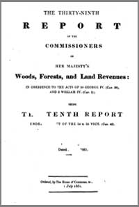 photo of The 39th Report of the Commissioners of Her Majesty's Woods, Forests and Land Revenues. 1861