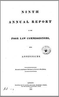 photo of Paliamentary Report, The Ninth Annual Report of the Poor Law Commissioners, 1843