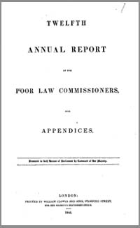 photo of Parliamentary Report, The Twelfth Annual Report of the Poor Law Commissioners, 1846