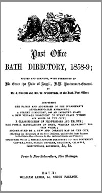 photo of Post Office Directory Bath, 1858-9