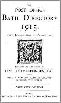 photo of The Post Office Bath Directory 1915
