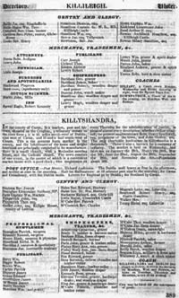 photo of Pigot's Commercial Directory of Ireland, 1824, Ulster section
