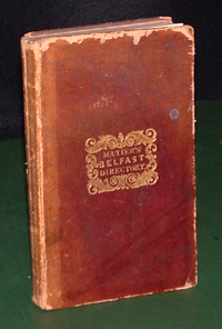 photo of Matier's Belfast Directory for 1835-6