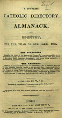 photo of A Complete Catholic Directory, Almanack and Registry, Vol. 2, 1837