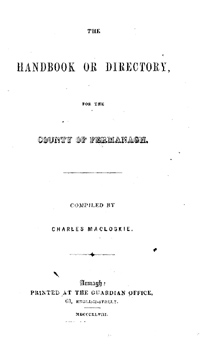 photo of Macloskie's Directory of Fermanagh 1848