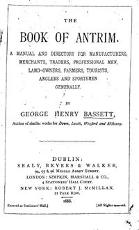 photo of Bassett's Book of Antrim 1888