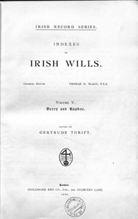 photo of Indexes to Irish Wills 1536-1858, 5 vols