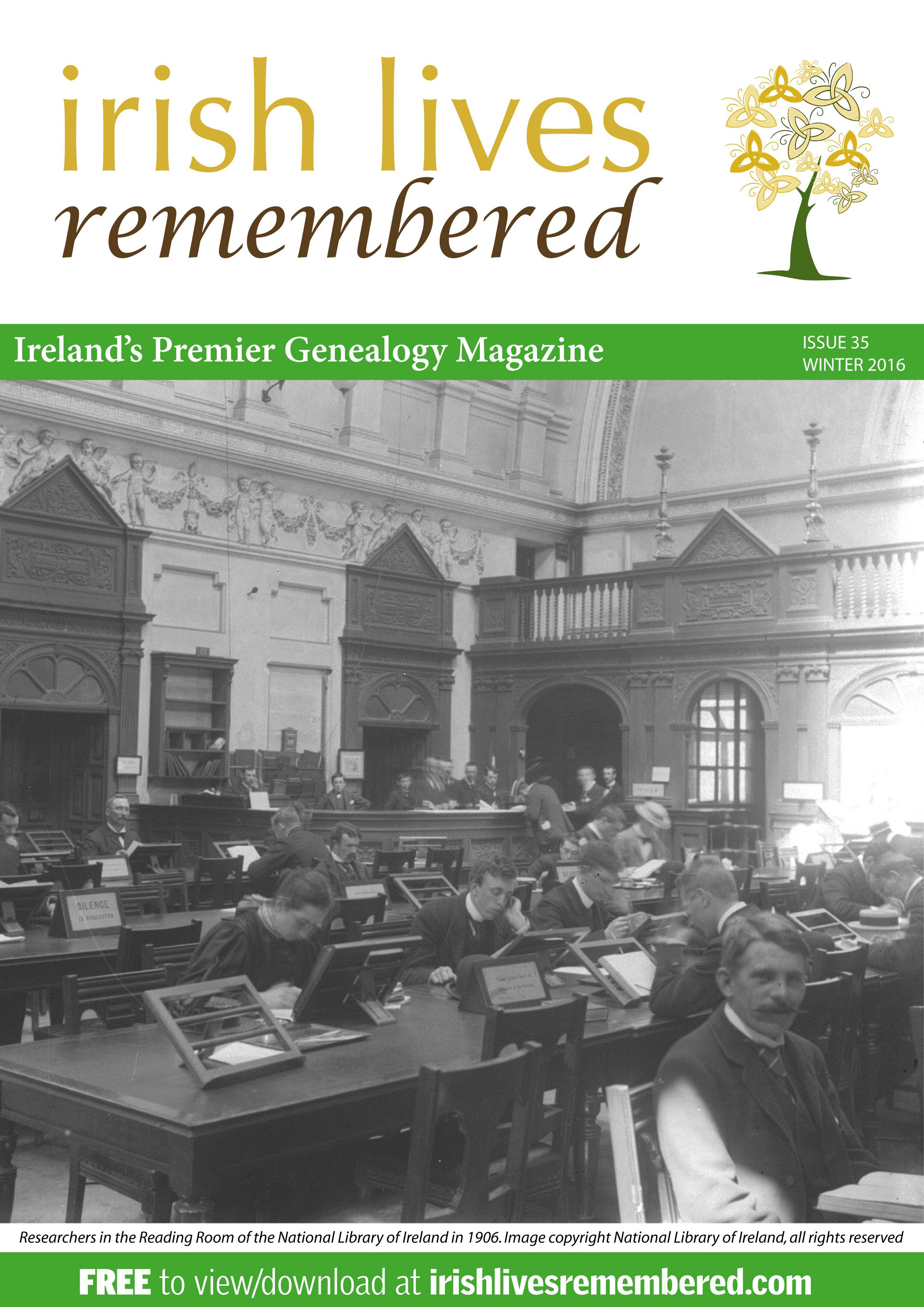 photo of Irish Lives Remembered Issue 35 Winter 2016