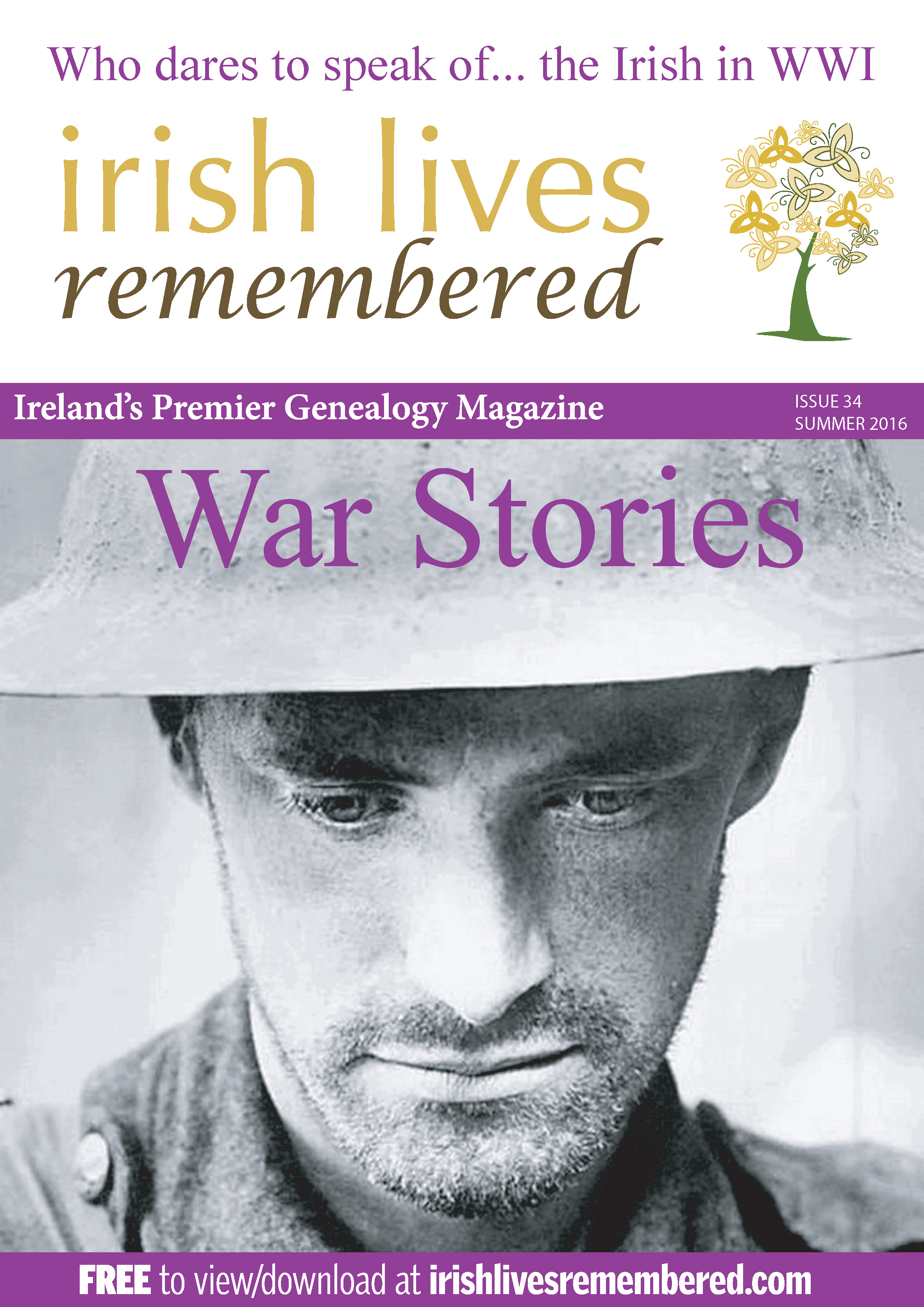 photo of Irish Lives Remembered Issue 34 Summer 2016