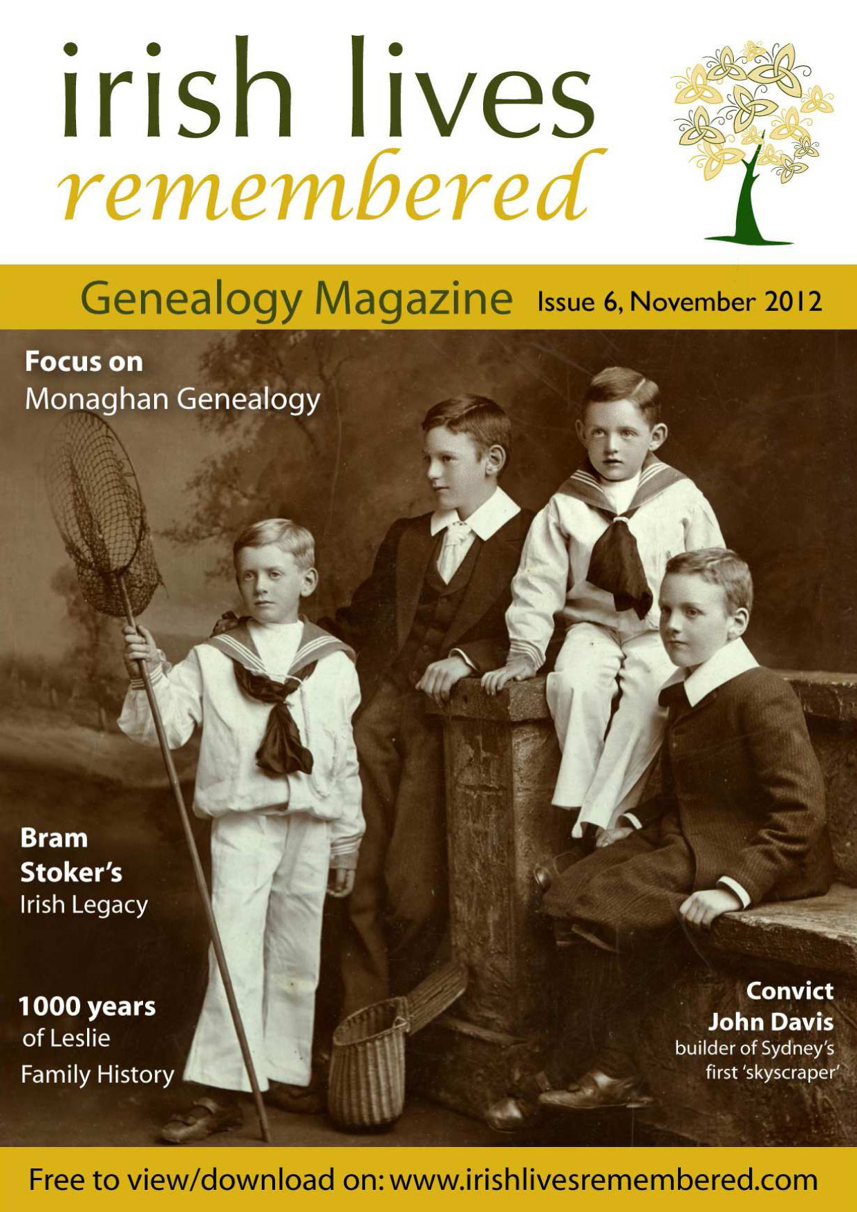photo of Irish Lives Remembered Issue 6 November 2012