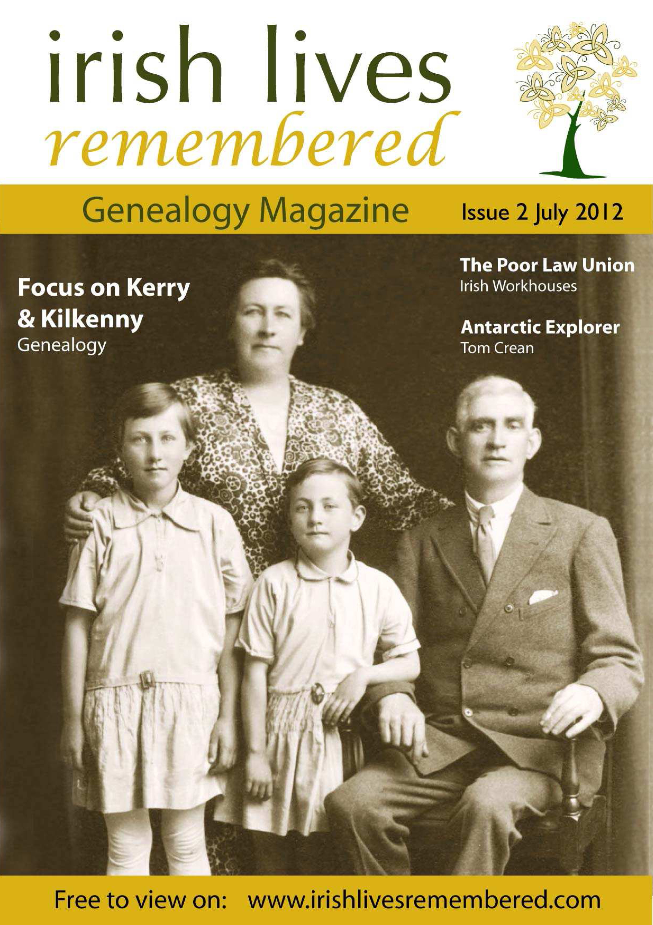 photo of Irish Lives Remembered Issue 2 July 2012