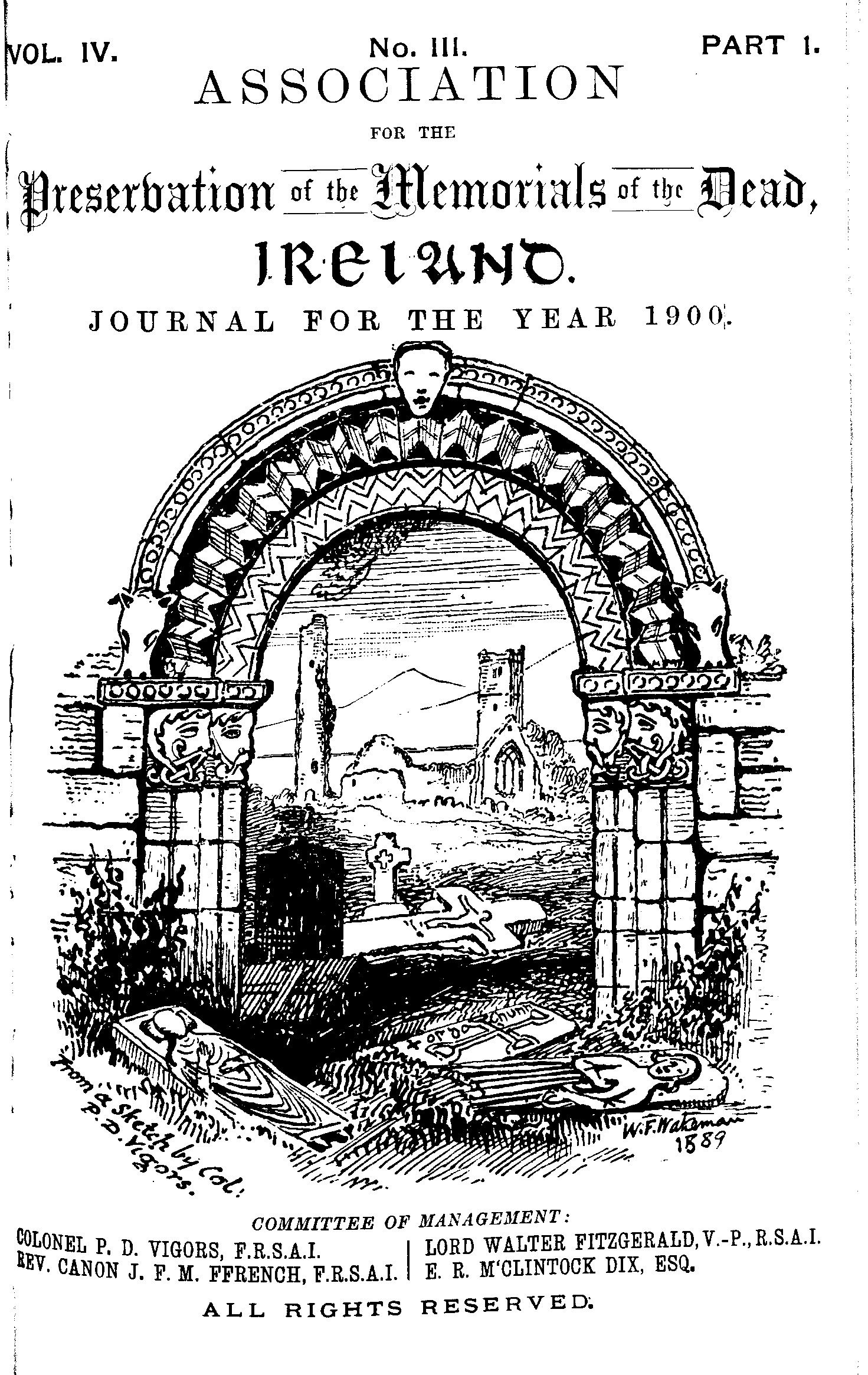 photo of The Journal of the Association for the Preservation of the Memorials of the Dead Vol IV for the years 1898-1900. 1900