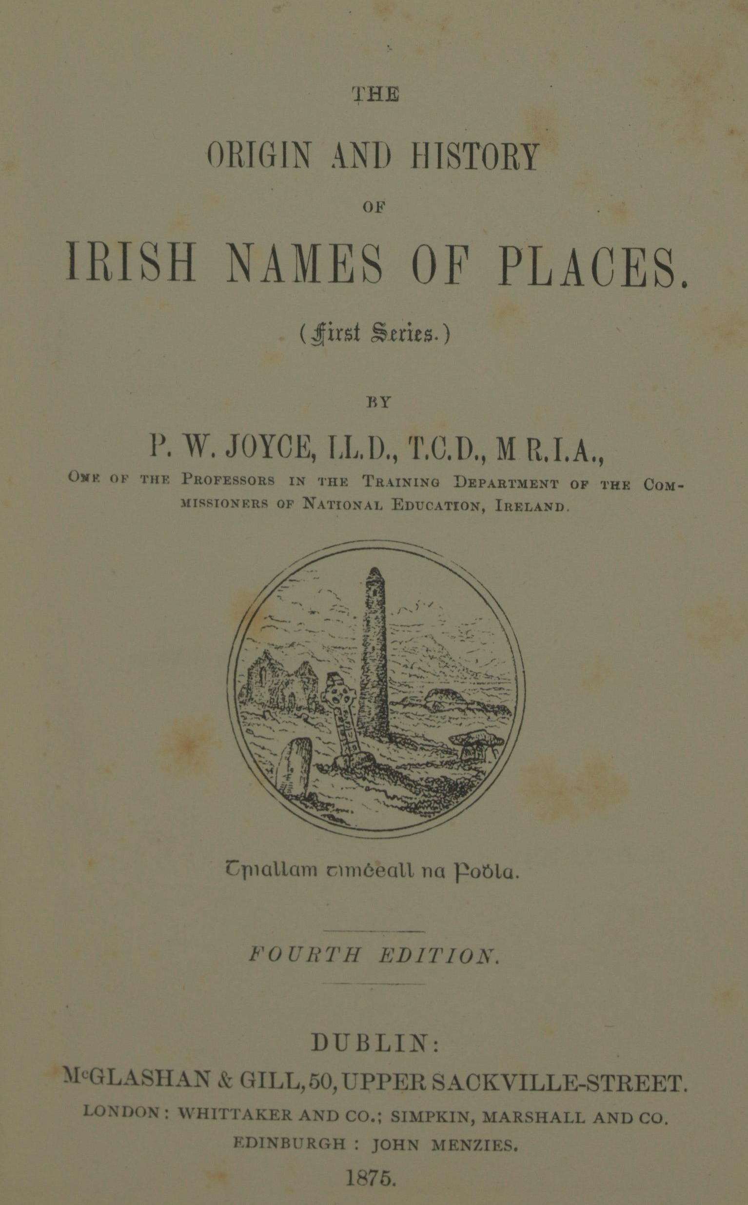 photo of The Origin and History of Irish Names of Places (First Series) 4th Edition, 1875