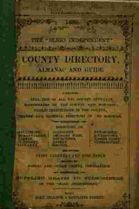 photo of Sligo Independent newspaper, County Directory, Almanac and Guide (1889)