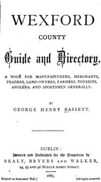 photo of Bassett's Wexford County Guide and Directory 1885