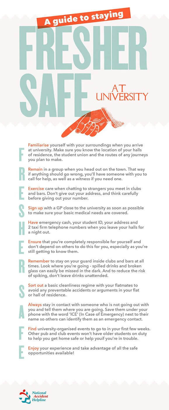 Guide to staying Fresher Safe at university