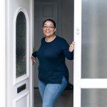 Teusday opening front door