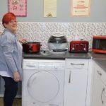 Sue in her kitchen