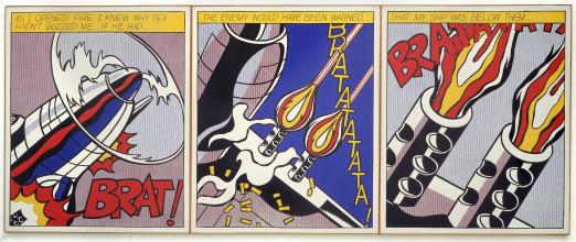 Roy Lichtenstein, As I Opened Fire, 1964 Stedelijk Museum Amsterdam