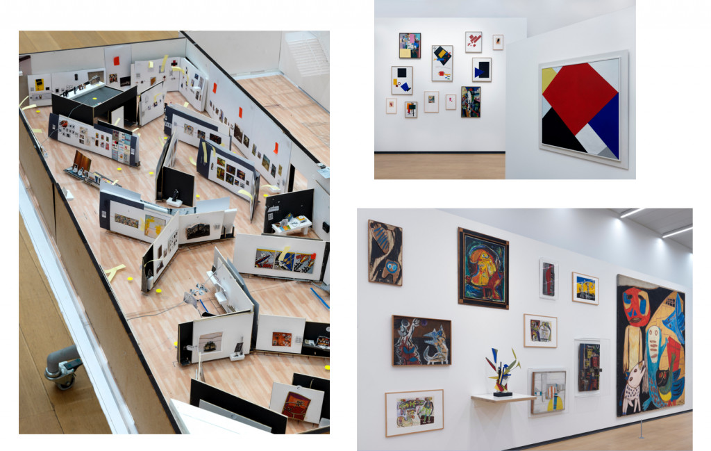 Kazimir Malevich, Theo van Doesburg and Karel Appel, installation view The collection, STEDELIJK BASE. Photo: Gert Jan van Rooij