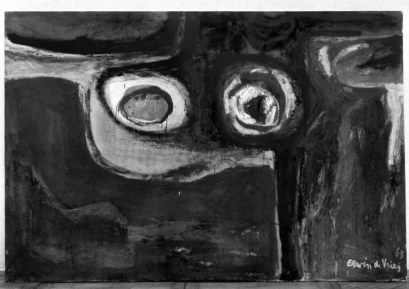 Erwin de Vries, Het magische oog, 1963, olieverf op doek, 200 x 300 cm, Stedelijk Museum, Amsterdam, verworven 1963