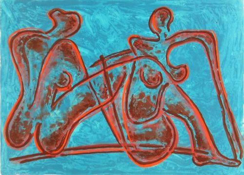 Erwin de Vries, Zonder titel, 1993, lithografie, 47 x 65 cm, Stedelijk Museum, Amsterdam, schenking kunstenaar, 2001