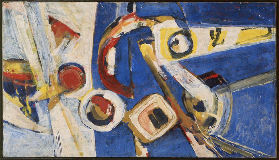 Erwin de Vries, Abstract, 1969, olieverf op doek, 80,5 x 140,5 cm, Stedelijk Museum, Amsterdam, verworven 1999
