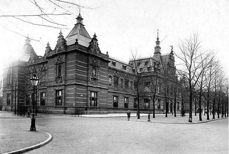 Histoische gebouw Stedelijk Museum Amsterdam, ca. 1895