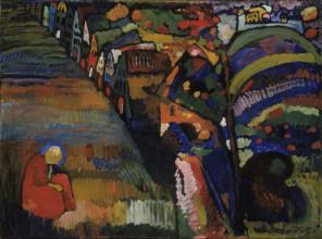 Wassily Kandinsky, Bild mit Häusern, 1909.