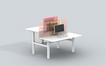 Van Eijk and Van der Lubbe, screens for office use, 2020. Courtesy of the designers